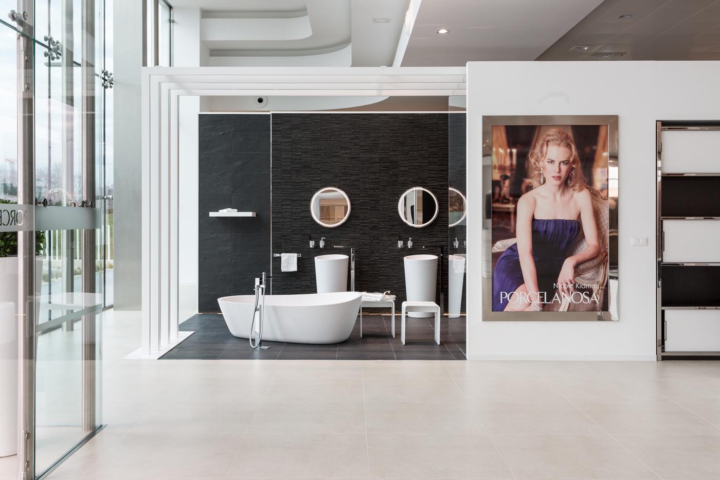 photographies du showroom porcelanosa studio picabel. Black Bedroom Furniture Sets. Home Design Ideas
