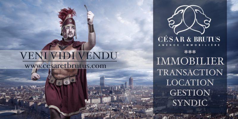 César et Brutus, campagne publicitaire pour immobilier